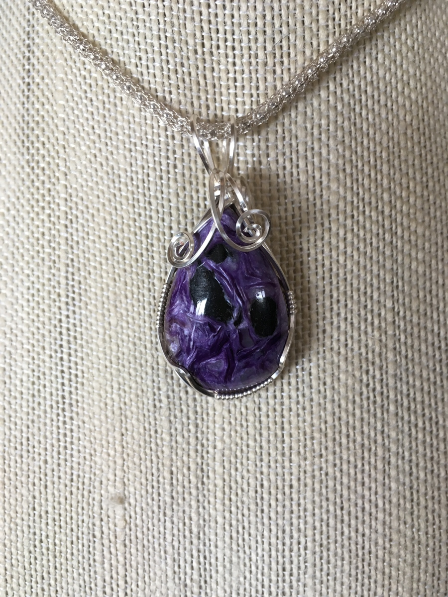 Russian Charoite & Silver (large view)