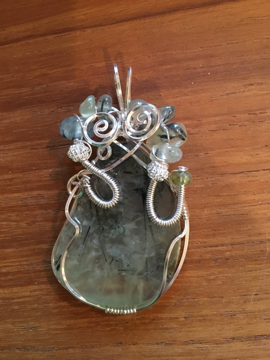 Mint green Prehnite (large view)
