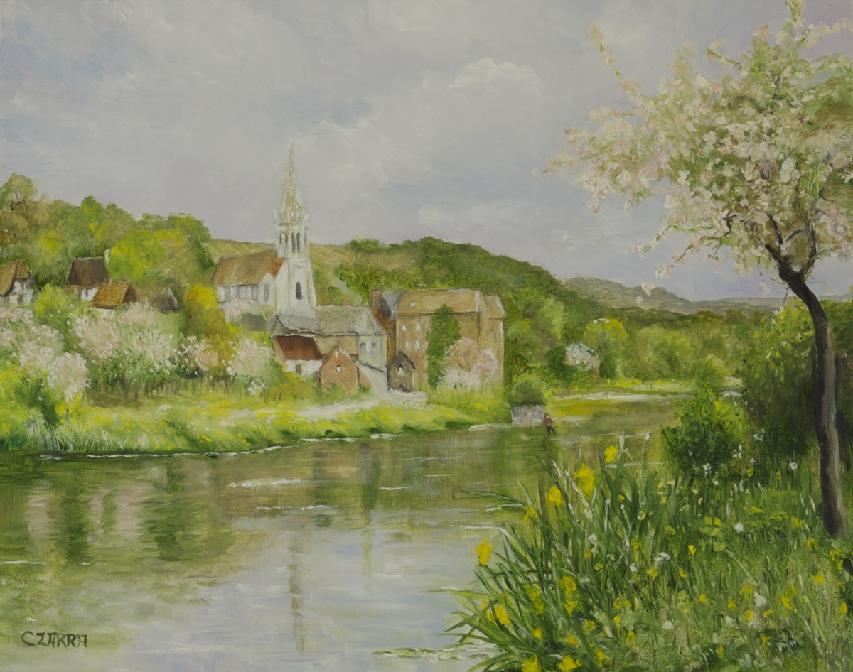 SPRING ALONG THE SEINE (large view)
