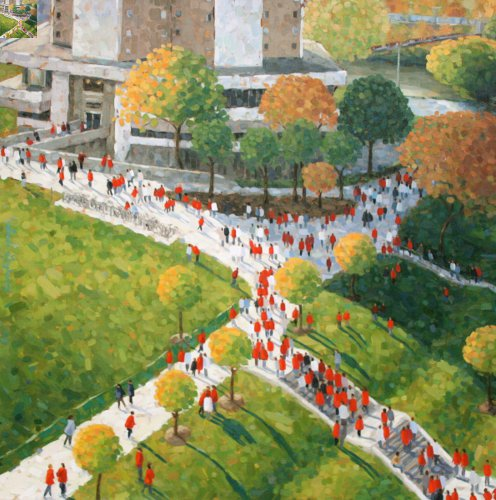 Exodus (from Ohio Stadium) by Linda Langhorst