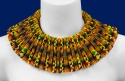 seed beaded reversible collar using size 15 seed beads: based on kente cloth (thumbnail)