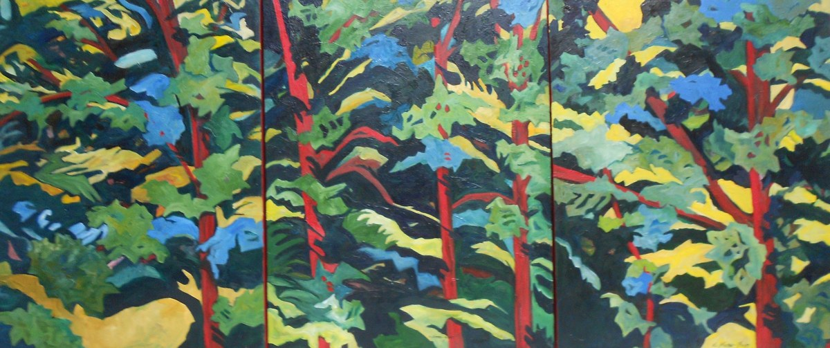 Forest Patterns, Tryptich (large view)