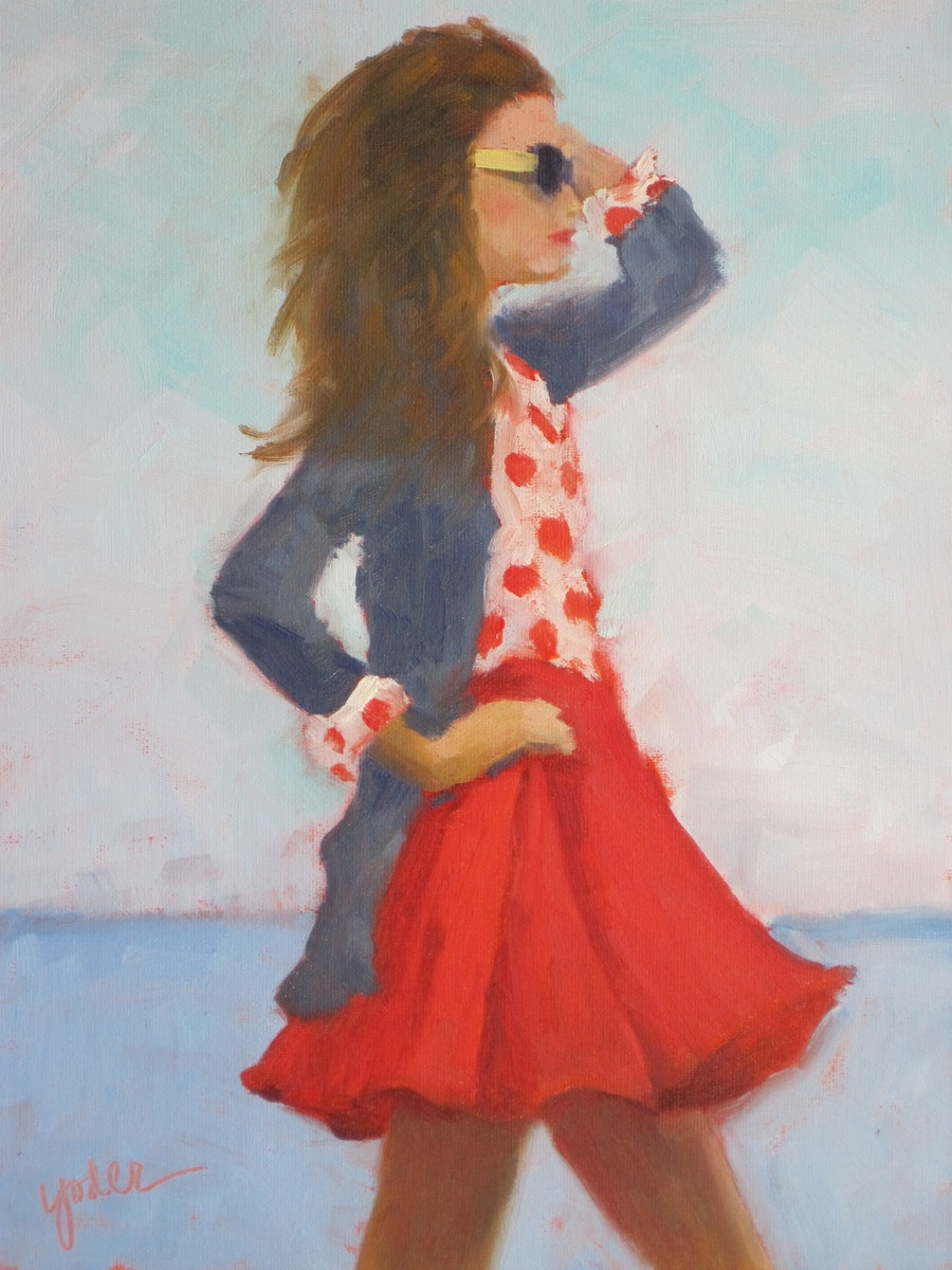 Polka Dots and Red Skirt (large view)