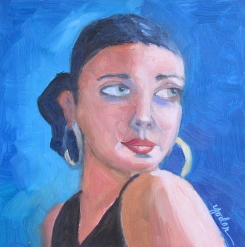 Flamenco girl (large view)