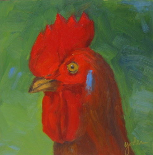 Rooster Head (large view)