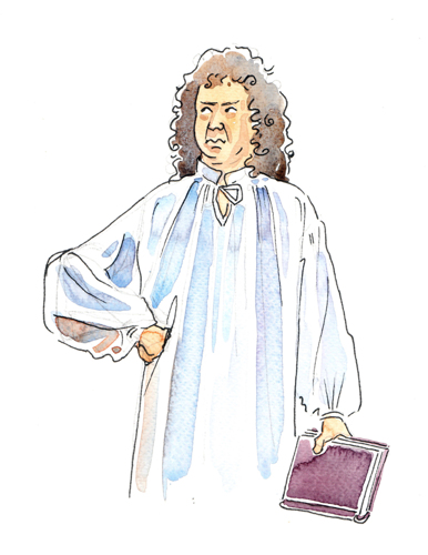 Samuel Pepys - detail from Great Fire of London illustration