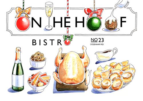 On the Hoof Christmas Postcard