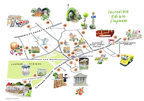 Edible Clapham Map