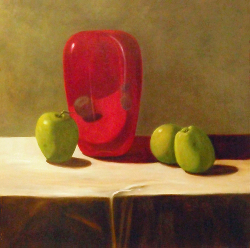 Green Apples and Ruby Urn