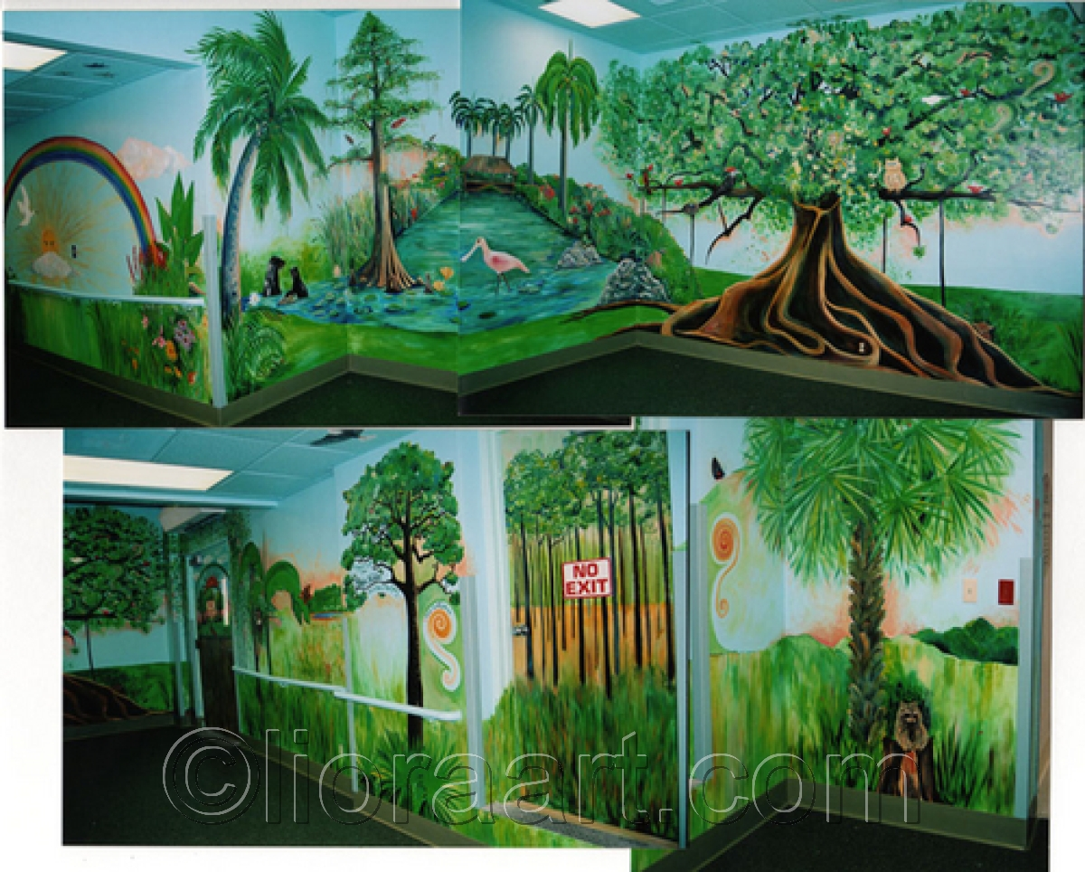 Joe Dimaggio Children's Hospital Mural in Hollywood (large view)