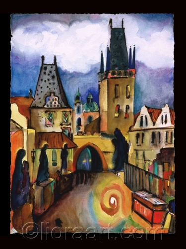 Charles Bridge, Prague by Liora Fine Art