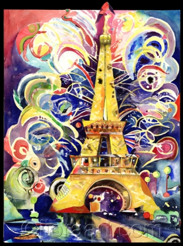 """Eiffel Tower at the Millennium #2""  © Liora 2008 by Liora Fine Art"