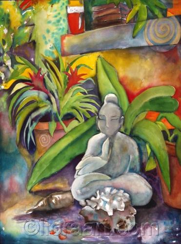 garden buddha © Liora 2009 by Liora Fine Art