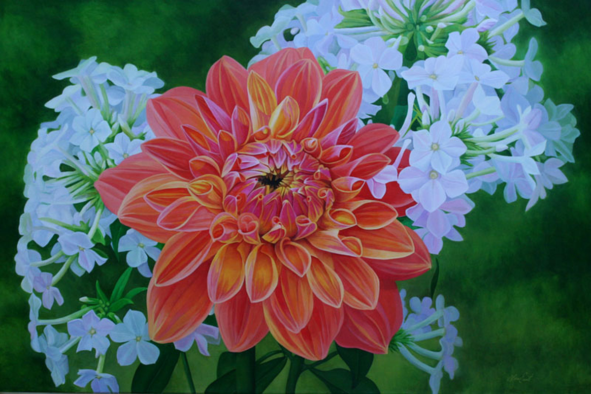 Dahlia with Phlox (large view)