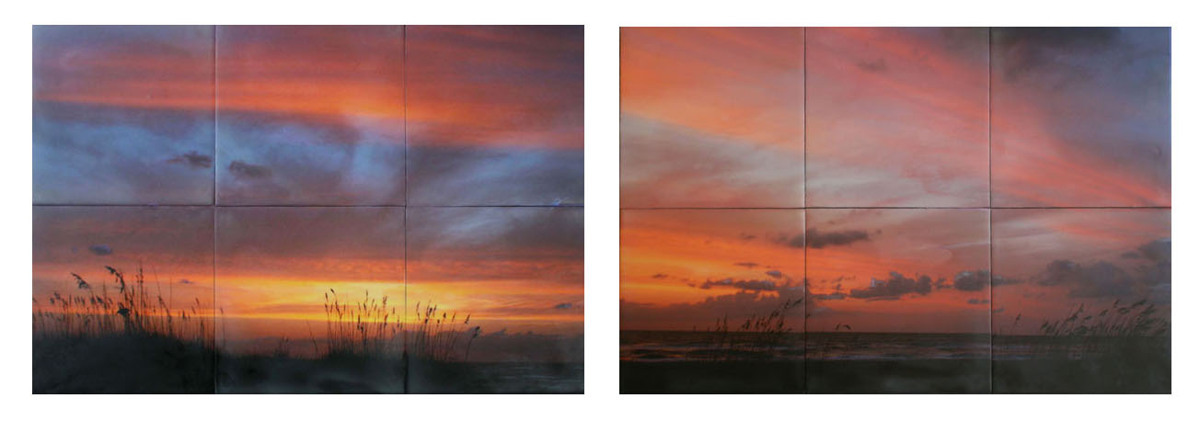 "Beachrise Diptych 36"" x 12"" (large view)"