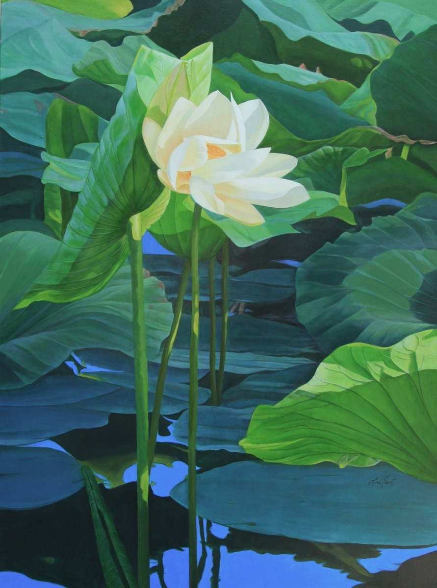 "American Tall Lotus, 36"" x 48""  (large view)"