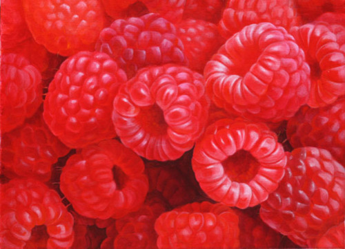 Red Raspberries by LISA ERNST