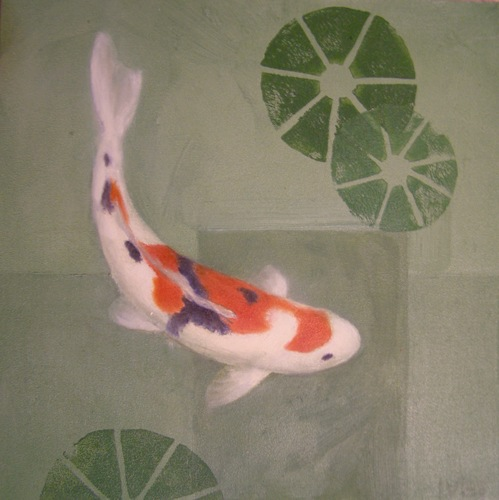 Small Koi; red