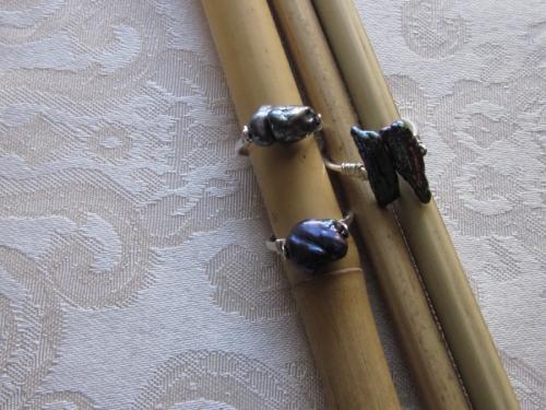 peacock pearl rings