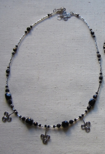 Spinel and sterling necklace