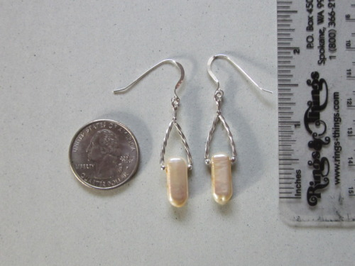 single double drilled pearl earring