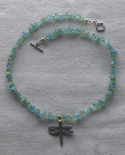 apatite and peridot necklace