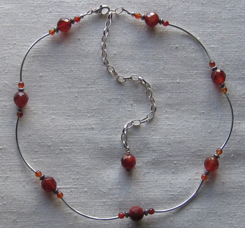 Carnelian and Sterling necklace