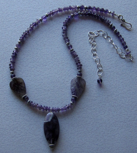 Dog tooth amethyst necklace