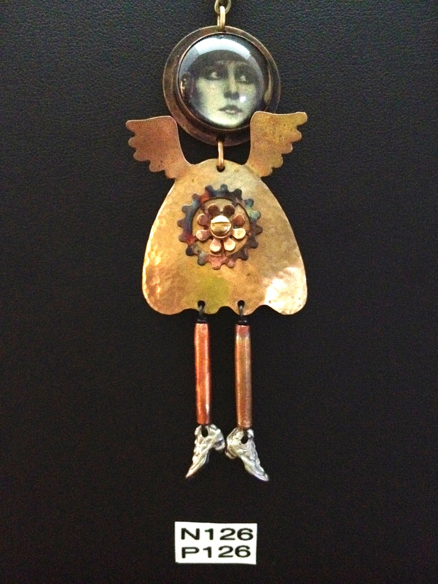 angel necklace or pin (large view)
