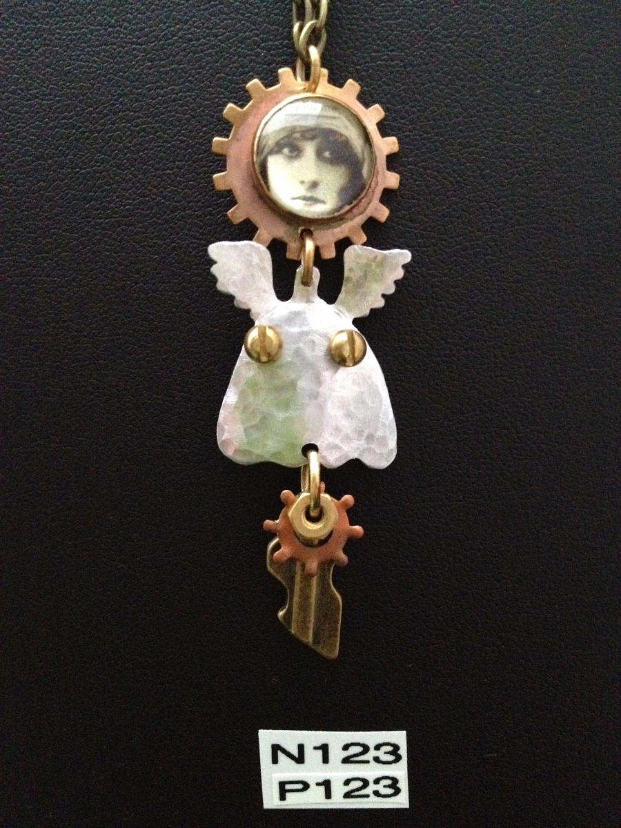 angel necklaces and pins (large view)