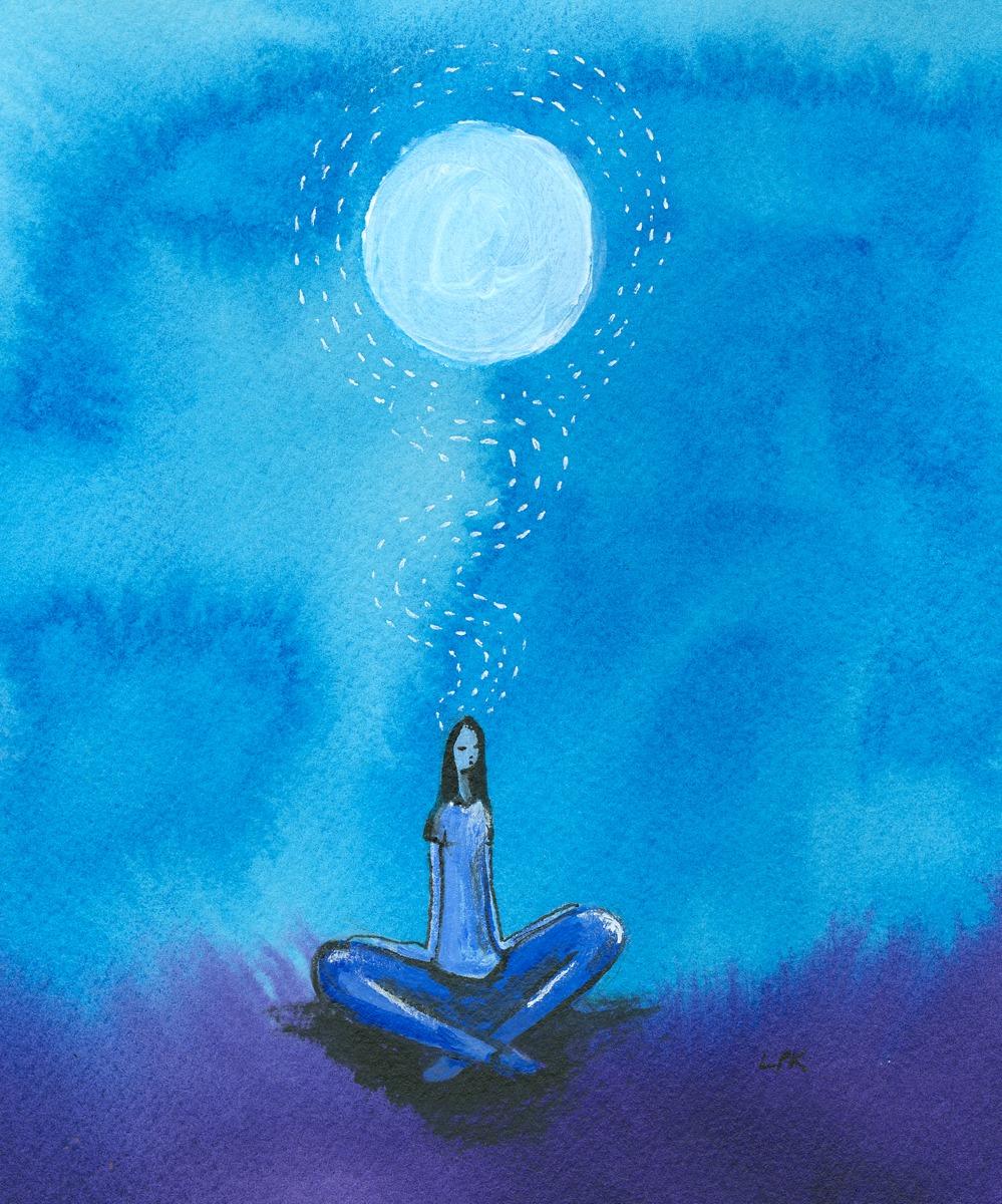 Meditating (large view)