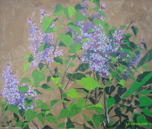 April Lilacs by Leah K. Tomaino