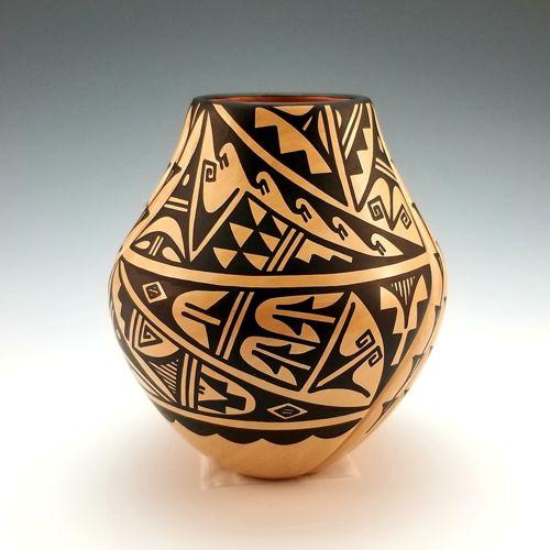 White Swirl Vase by Laverne Loretto-Tosa