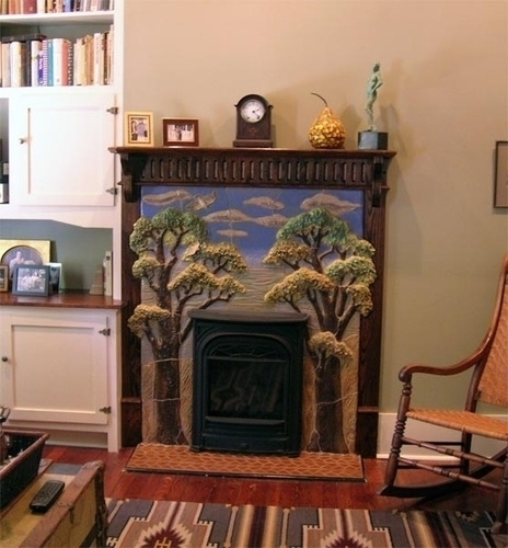 Trees Fireplace