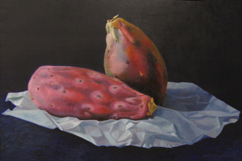 """Pair of Cactus Pears"" by Louise Morin Dichard"