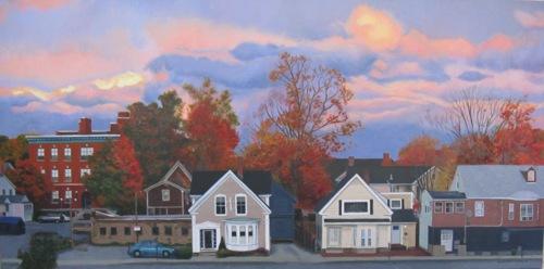 Autumn Evening on Spring Street