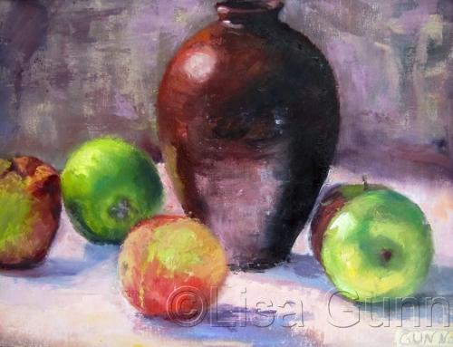 Apples in warm light