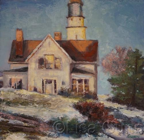 Maine Lighthouse Winter