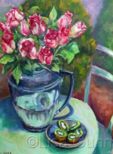 Pink Roses and Kiwis