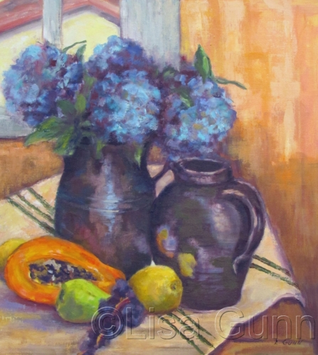 hydrangeas in pots