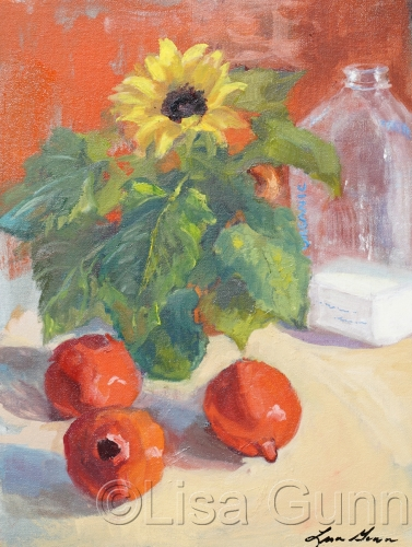 Pomogranits, Sunflowers, and Milk