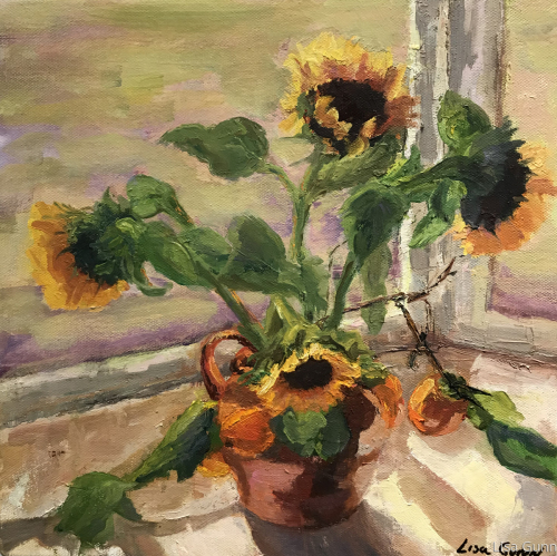 Window Sunflowers