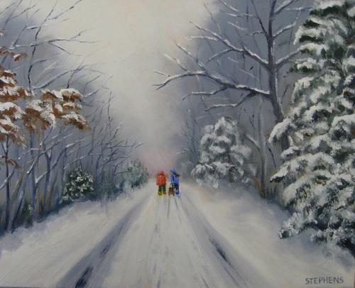 Snowy Road Home II