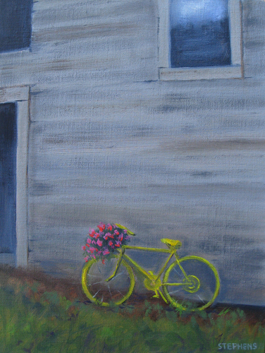 Yellow Bicycle by Lois Stephens