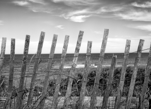 Snow Fence, Chatham Lighthouse, MA by Brian Sesack - Fine Art Photography