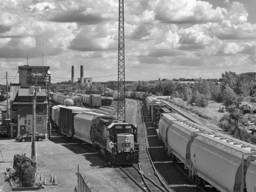 Railway Yard, Rochester, NY by Brian Sesack - Fine Art Photography