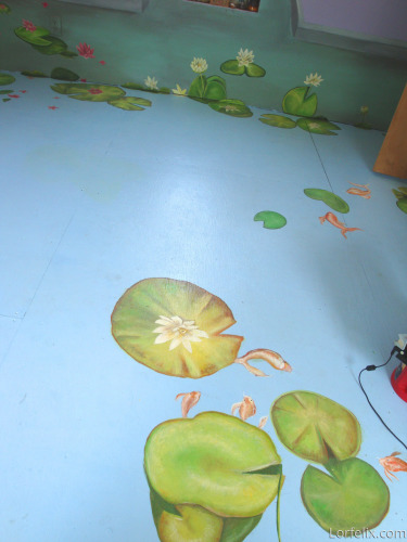 Lily Pads painted floor