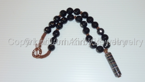 Handmade Glass & Onyx Necklace
