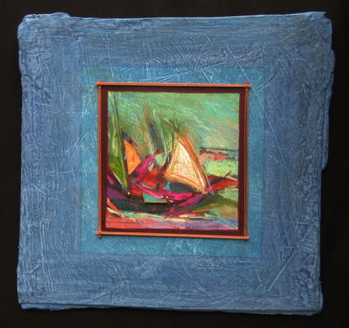 Aqua Sky Sail by Lori Austill