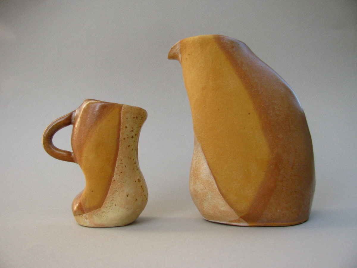 Curved Spine Cruet and Espresso Set, Brown (large view)